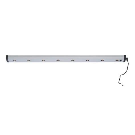 illumine 8 light aluminum led cabinet light cli ls441984 the home depot