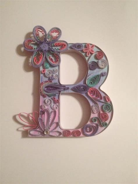 items similar  quilled letter quilling wall art paper quilled art monogram freestanding