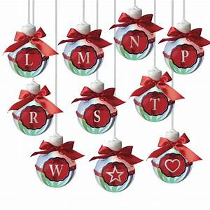 led lighted monogram christmas ornaments letters l w set With lighted letter ornaments