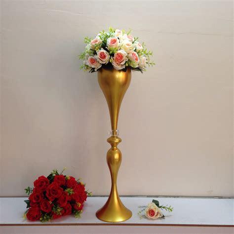 Table Vase by 70cm 27 5 Quot Vintage Gold Wedding Flower Vase Gold Table