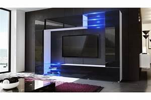 Meuble Tele Moderne : meuble t l mural moderne novomeuble ~ Teatrodelosmanantiales.com Idées de Décoration