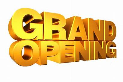 Opening Grand Background Transparent Gold Text 3d