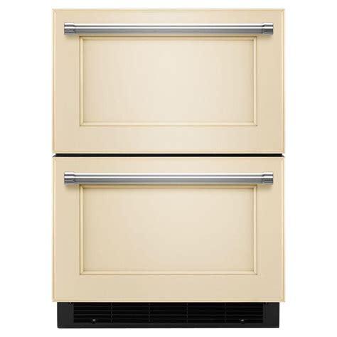 congelateur a tiroir kitchenaid tiroir r 233 frig 233 rateur cong 233 lateur de 24 po pr 234 t 224 accueillir le panneau de