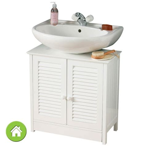 white wood  sink bathroom floor cabinet storage unit