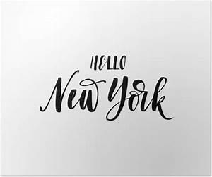 New York Schriftzug : poster hallo new york karte amerikanischen stadt hand gezeichnet schriftzug hintergrund ink ~ Frokenaadalensverden.com Haus und Dekorationen