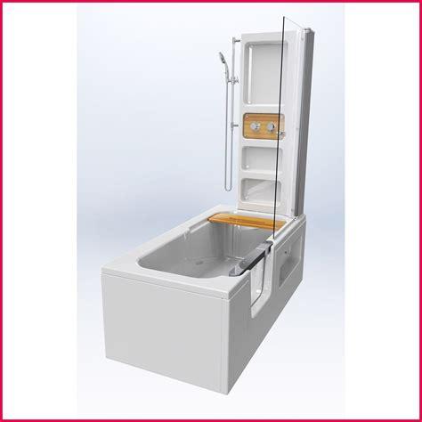 baignoire avec porte baignoire 2 en 1