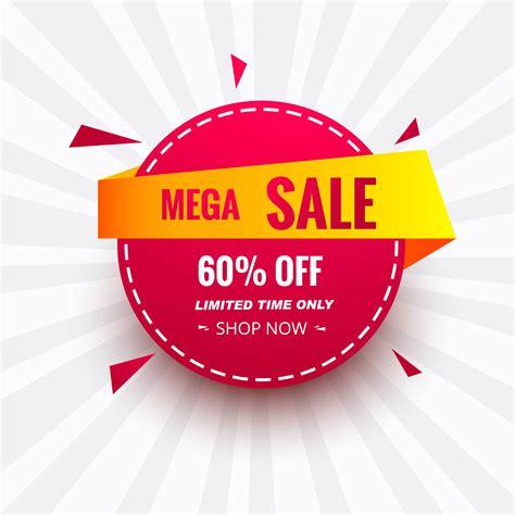 Mega sale banner colorful creative circle icon design ...