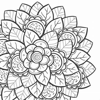Coloring Teens Pages Flower