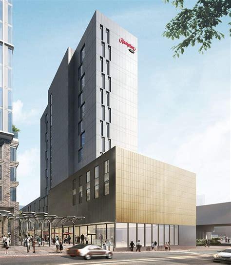 hampton inn  hilton leeds city centre  skyscraper