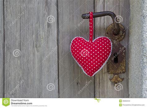 polka dotted heart shape hanging  door handle handmade