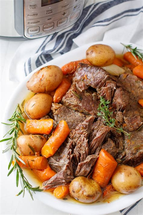 roast pot instant chuck recipes recipe cooker easy pressure beef slow carrots potatoes dearcrissy dinner cooking dairy soup meals perfect