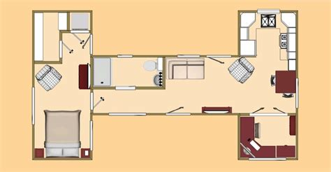 40 Foot Shipping Container Home Floor Plans  Modern