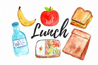 Lunch Clipart Watercolor Meal Clip Lunches Distribution