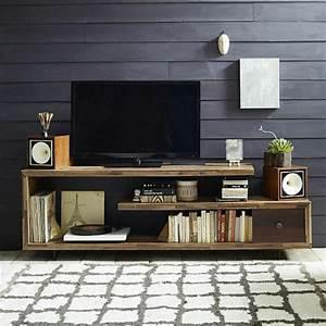 Le meuble tele en 50 photos des idees inspirantes for Idee deco cuisine avec meuble tv bois massif