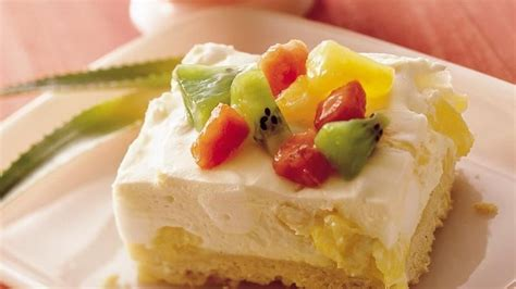 light dessert recipes light and tropical dessert recipe from betty crocker