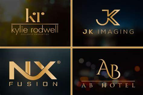 initial letter monogram  text luxury logo design  logomaster fiverr