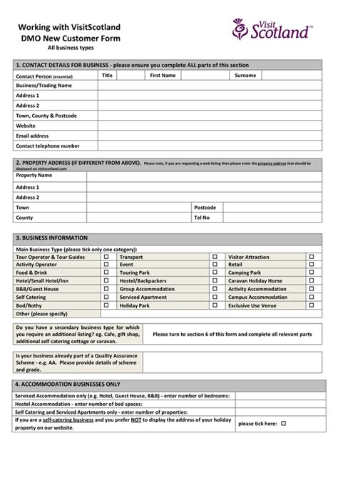 blank booking form template  word   formats