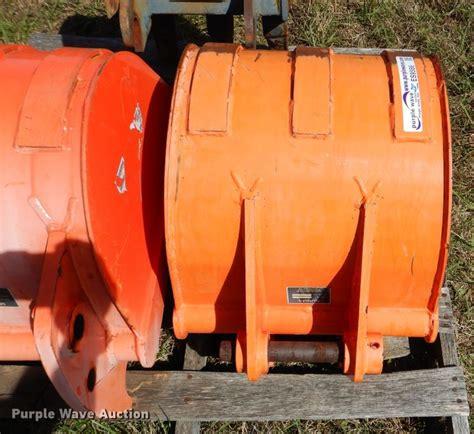 kubota backhoeexcavator buckets  davis  item es sold purple wave