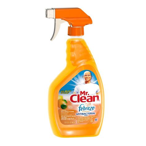 mr clean bathroom cleaner with febreze mr clean 32 oz multi purpose antibacterial cleaner with