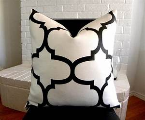 Black and white pillows decorative best decor things for Black and white toss pillows