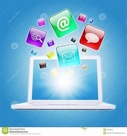 Program Icons Laptop Computer Software Concept Display