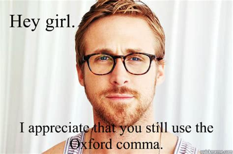 Oxford Comma Memes - why everyone should use the oxford comma i am bored