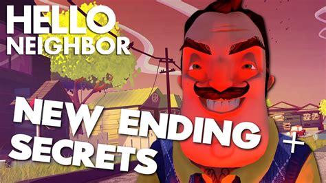 hello neighbor update new ending secrets manly let