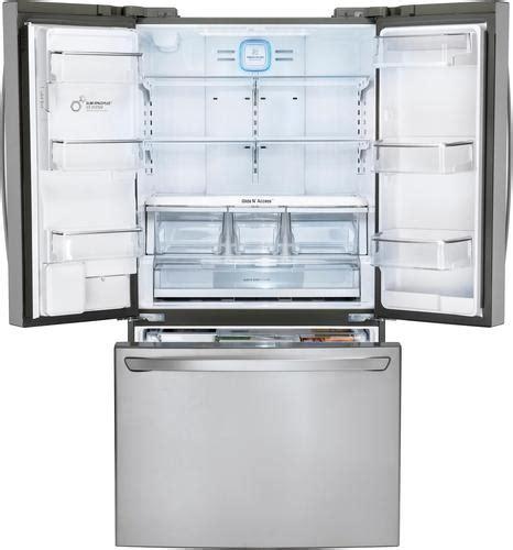 lg  cu ft french door smart refrigerator    door ice  water stainless