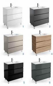 Meuble Tiroir Salle De Bain : meubles lave mains robinetteries meuble sdb meuble de salle de bain sur pieds 80 cm ~ Teatrodelosmanantiales.com Idées de Décoration