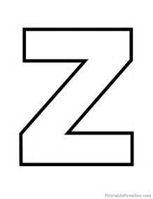 Printable Bubble Letters Z