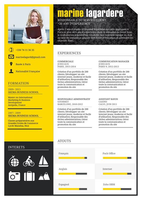 performant cv resume resume design cv template et