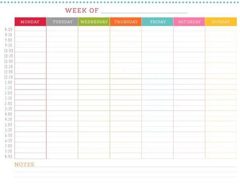 printable weekly schedule caught eye daily