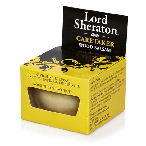 wood wax wood balsam 75ml lord sheraton beeswax linseed oil furniture polish 8400620104 ebay