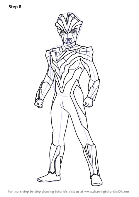 learn   draw ultraman victory ultraman step  step