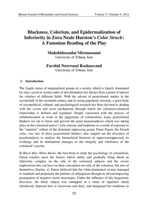 color struck pdf blackness colorism and epidermalization of