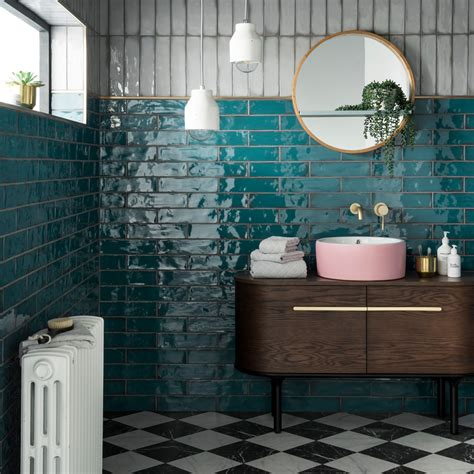 Topps Tiles names this rich teal design as Tile of the