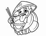 Rice Chinese Coloring Eating Drawing Dragon China Head Coloringcrew Colorear Princess Getdrawings sketch template