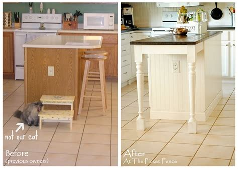 how to add a kitchen island kitchen island makeover tutorial at the picket fence