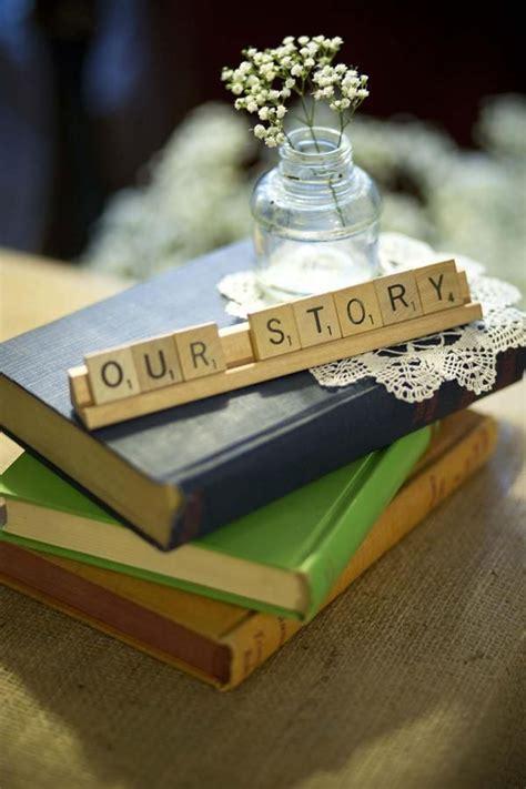 adorable book literary wedding ideas deer pearl flowers
