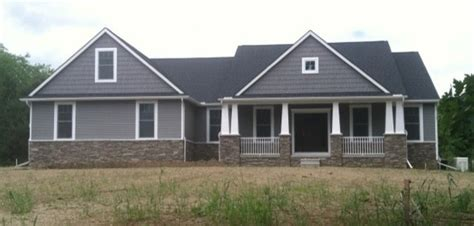 Paint Colors For A Rustic Living Room by Custom Ranch Washington Twp Craftsman Exterior