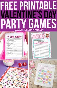 Printable Valentine Party Games
