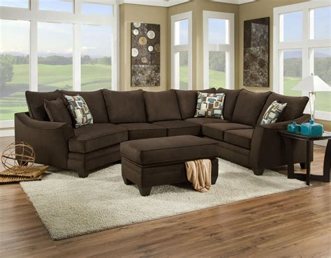 American Furniture Sofa by American Furniture 3810 Sectional Sofa That Seats 5 With