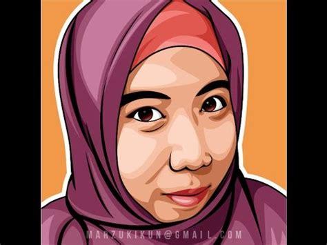 draw vector cartoon hijab girl youtube