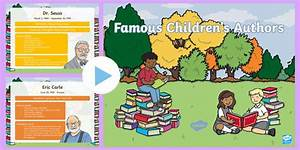 Famous Children's Authors PowerPoint - World Book Day