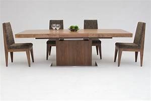 Zenith, Modern, Walnut, Extendable, Dining, Table