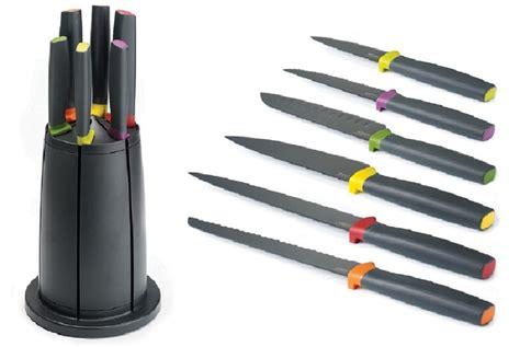 joseph joseph kitchen accessory set elevate knives carousel set rotating knife block by 7618