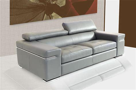Canap En Cuir Gris Fabriqu En Italie Sofamobili