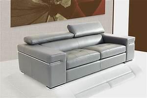 canap en cuir gris fabriqu en italie sofamobili With tapis yoga avec canapé cuir 2 places blanc