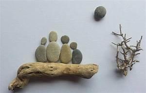 Basteln Mit Steinen : bild aus kieselsteinen familie von tamikra auf dawanda ~ Watch28wear.com Haus und Dekorationen