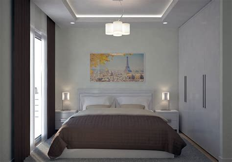 chambre design moderne villa contemporaine 130m2 etage modèle lavande salon